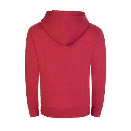Red Chip Pocket Popover Hoodie
