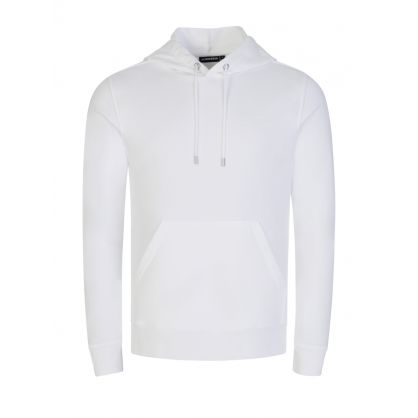 White Throw Clean Popover Hoodie