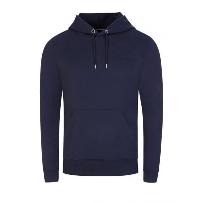 Navy Throw Clean Popover Hoodie