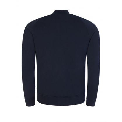 Navy Josef Zip-Through Sweatshirt
