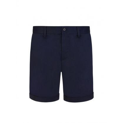 Navy Super Satin Nathan Shorts