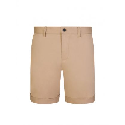 Beige Super Satin Nathan Shorts
