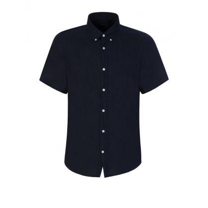 Navy Clean Linen Shirt