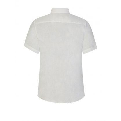White Clean Linen Shirt