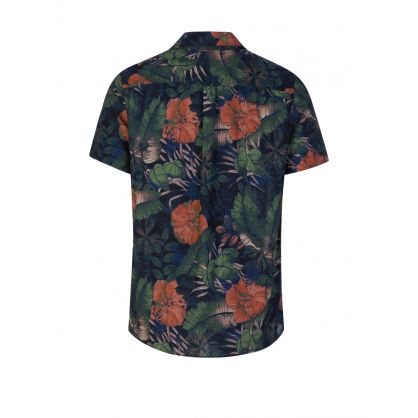Black Seasonal Print Shirt