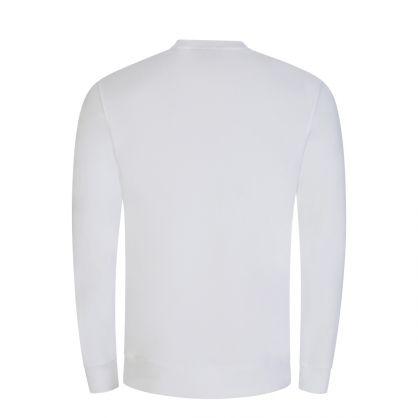 White Throw Patch Logo Sweatshirt