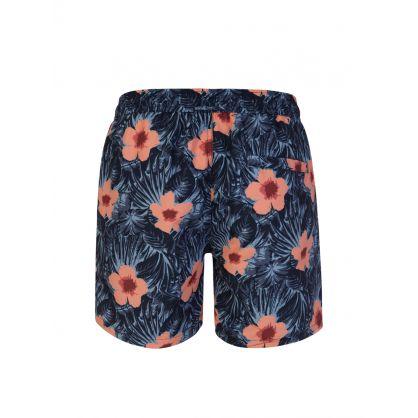 Blue Banks Floral Pattern Swim Shorts
