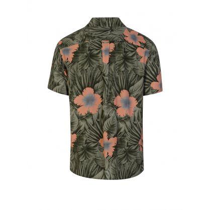 Green Hawaiian Print Shirt