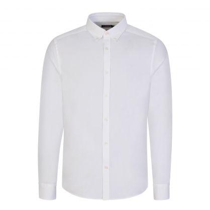 White Slim-Fit Stretch Oxford Shirt