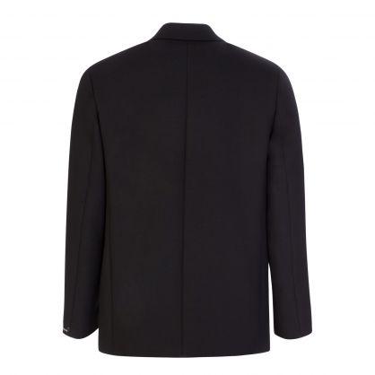 Black David Double Weave Jacket