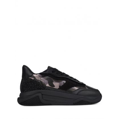 Black Pacific Foil Camo Trainers