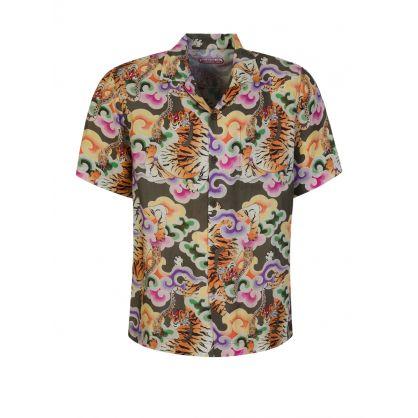 Green Tiger Camp Summer Shirt