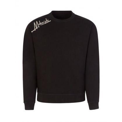 Black Heart of Tigers Embroidered Sweatshirt
