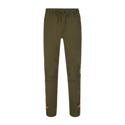 Green Heart of Tigers Track Pants