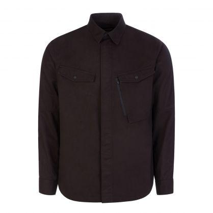 Black Organic 3/1 Cotton Twill Miltype Custom Shirt