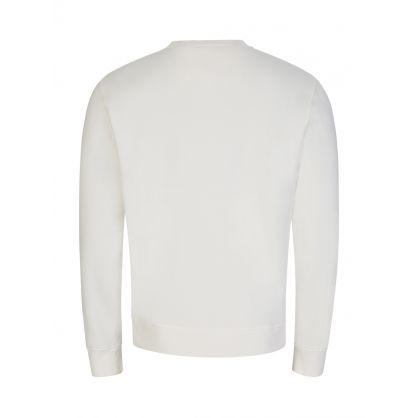 Cream Cross-Stitch Chest Logo Sweatshirt