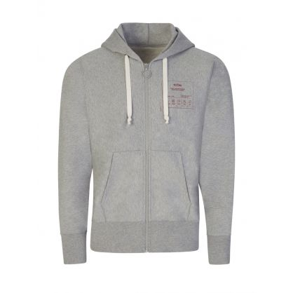 Grey Iconic Vintage Zip-Through Sweatshirt