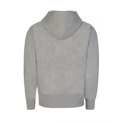 Grey Iconic Vintage Zip-Through Sweatshirt