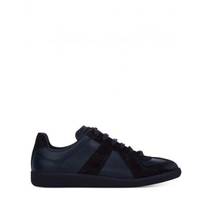 Navy Nappa Leather Replica  Trainers