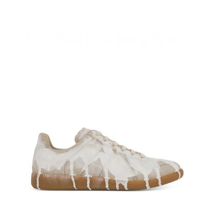 White Replica Bianchetto Paint Trainers