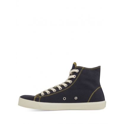 Navy Tabi MM Embroidery High-Top Trainers