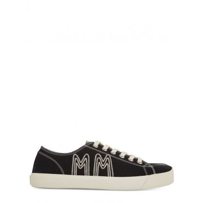 Black Tabi MM Embroidery Trainers