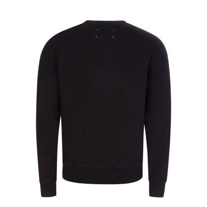 Black Upside-Down Logo Sweatshirt