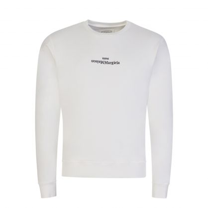 White Upside-Down Logo Sweatshirt