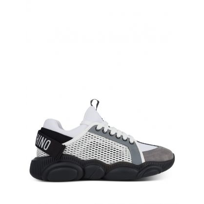 White Mesh Reflective Trainers