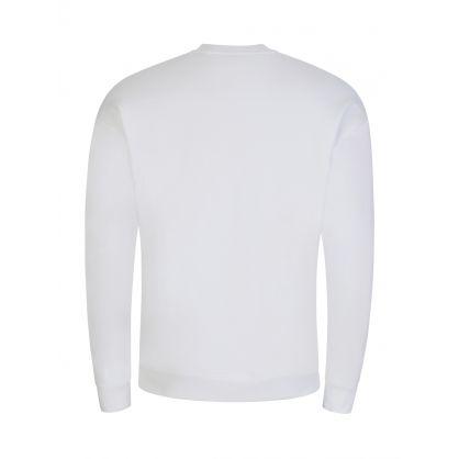 Couture White Milano Logo Sweatshirt