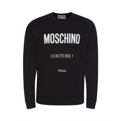 Couture Black Logo Sweatshirt