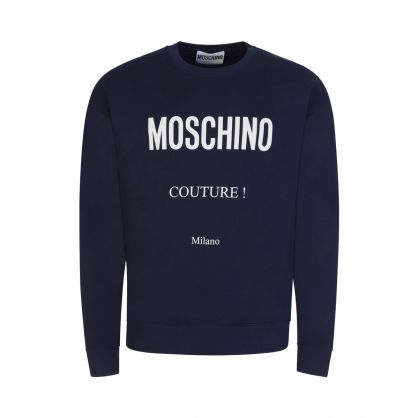 Couture Navy Logo Sweatshirt