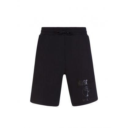 Couture Black Milano Logo Shorts