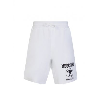 White Milano Logo Shorts