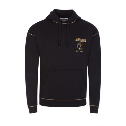 Black Gold Piping Hoodie