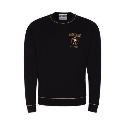 Black Gold Piping Sweatshirt