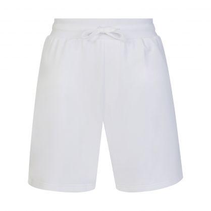 White Symbols Logo Sweat Shorts