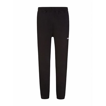 Black Cuffed Logo Sweatpants