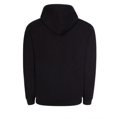 Black Logo Hooded Zip-Through