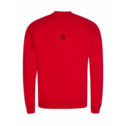 Red Double Chest Pocket Logo Sweatshirt
