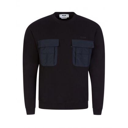 Black Double Pocket Sweatshirt