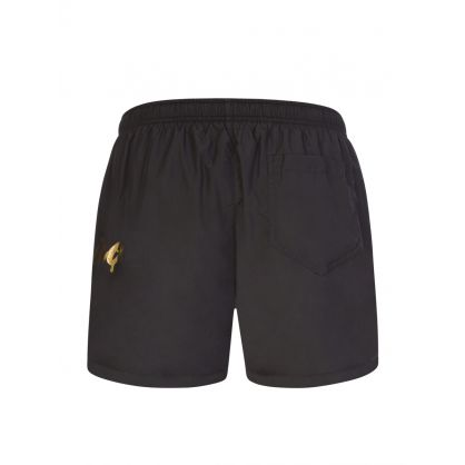 Swim Black Logo Leg Swim Shorts