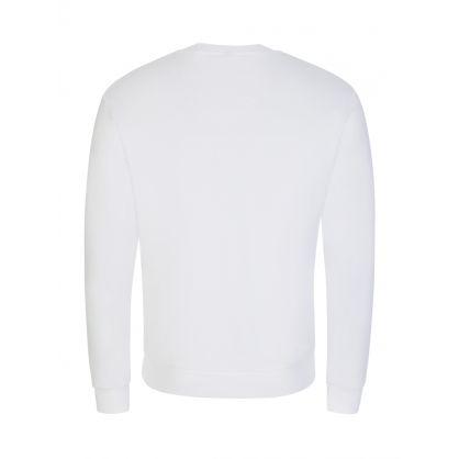Swim White Logo Beach Sweatshirt
