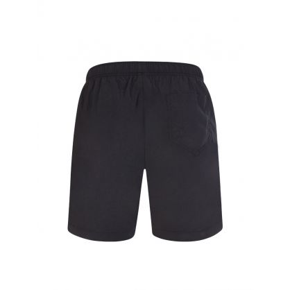 Swim Black Lettering Logo Swim Shorts