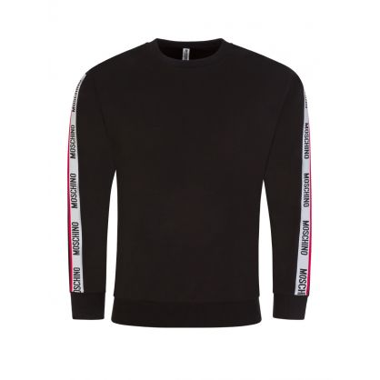 Black Sleeve Logo Tape Sweatshirt
