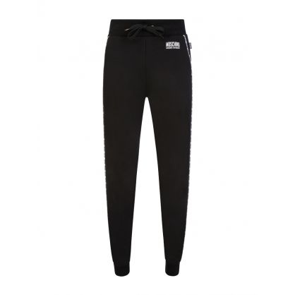 Black Slim-Fit Logo Tape Sweatpants