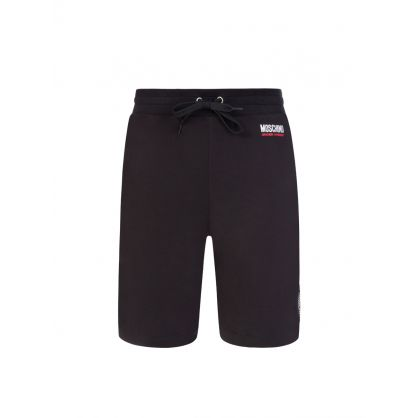 Black Logo Tape Lounge Shorts