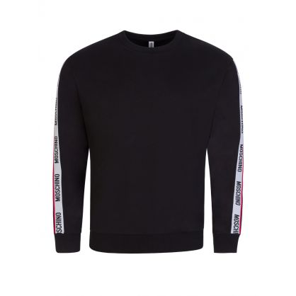Black Logo Tape Shoulders Sweatshirt