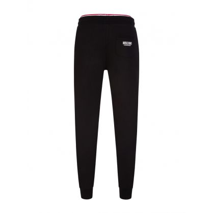 Black Underwear Collection Logo Tape Sweatpants