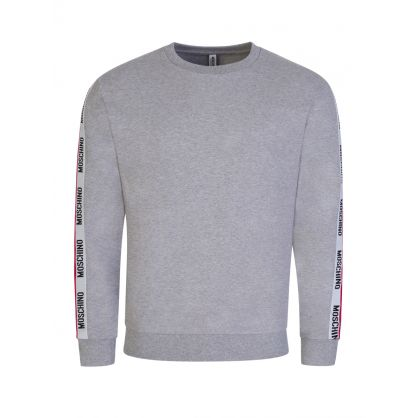 Grey Tape Logo Shoulder Sweatshirt